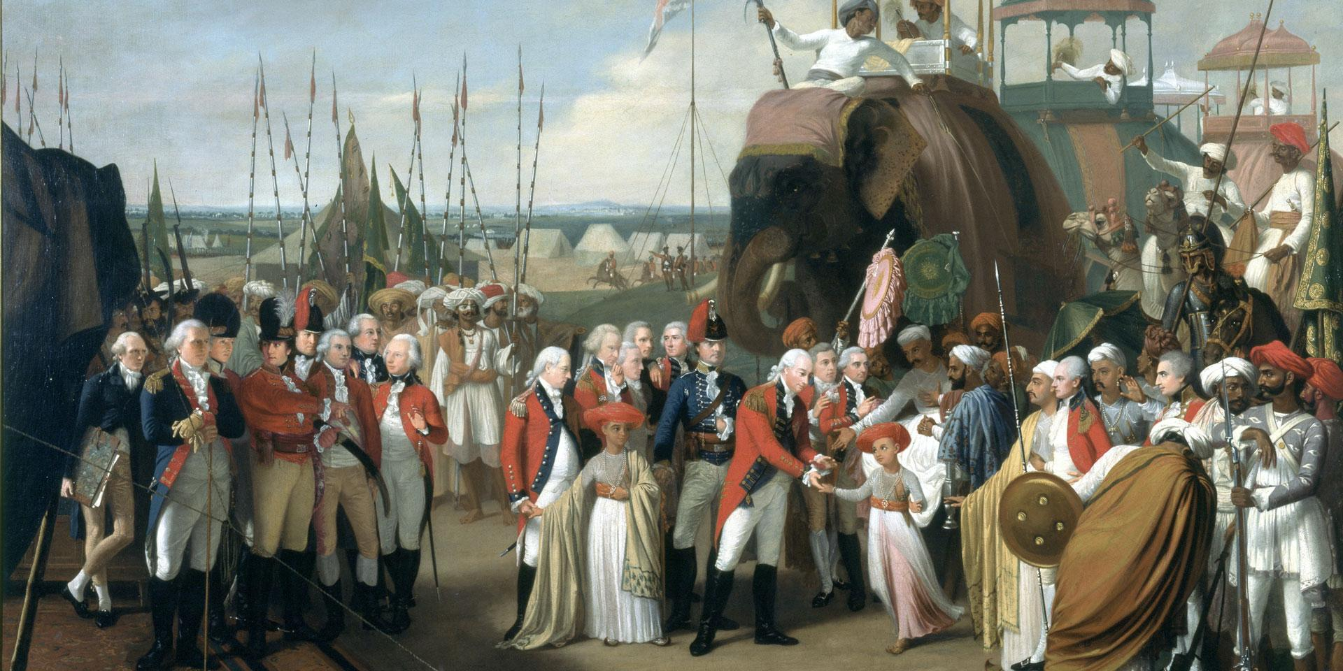 'The Reception of the Mysorean Hostage Princes by Marquis Cornwallis', 26 February 1792