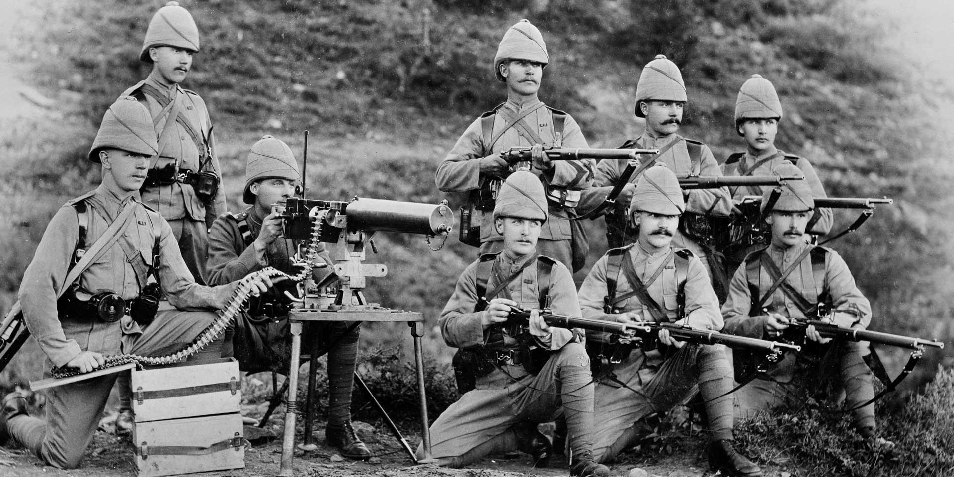 Maxim Gun detachment of 1st Battalion, King's Royal Rifle Corps, Chitral, 1895