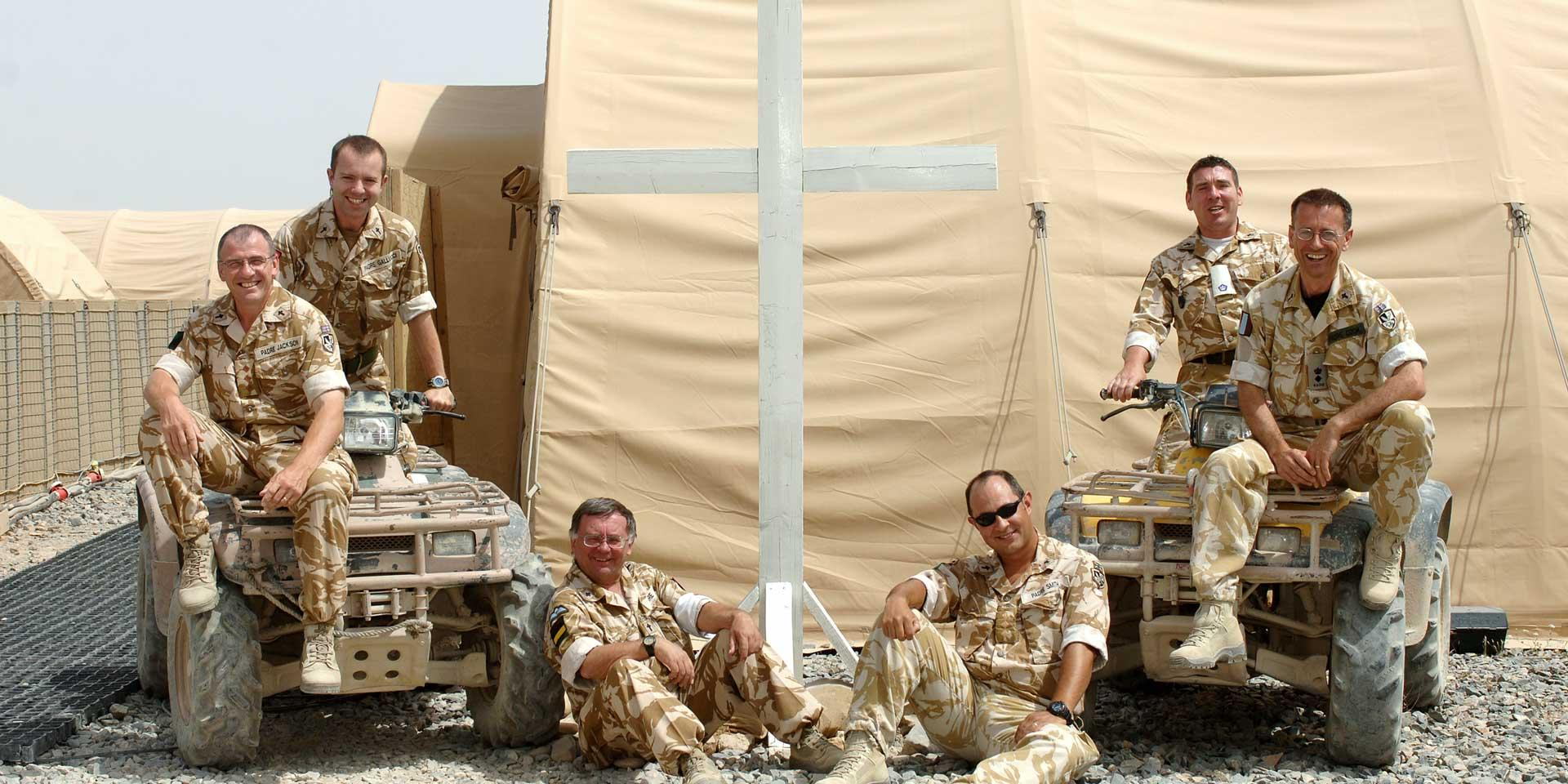 British Army chaplains at Camp Bastion, Helmand, Afghanistan, 2008
