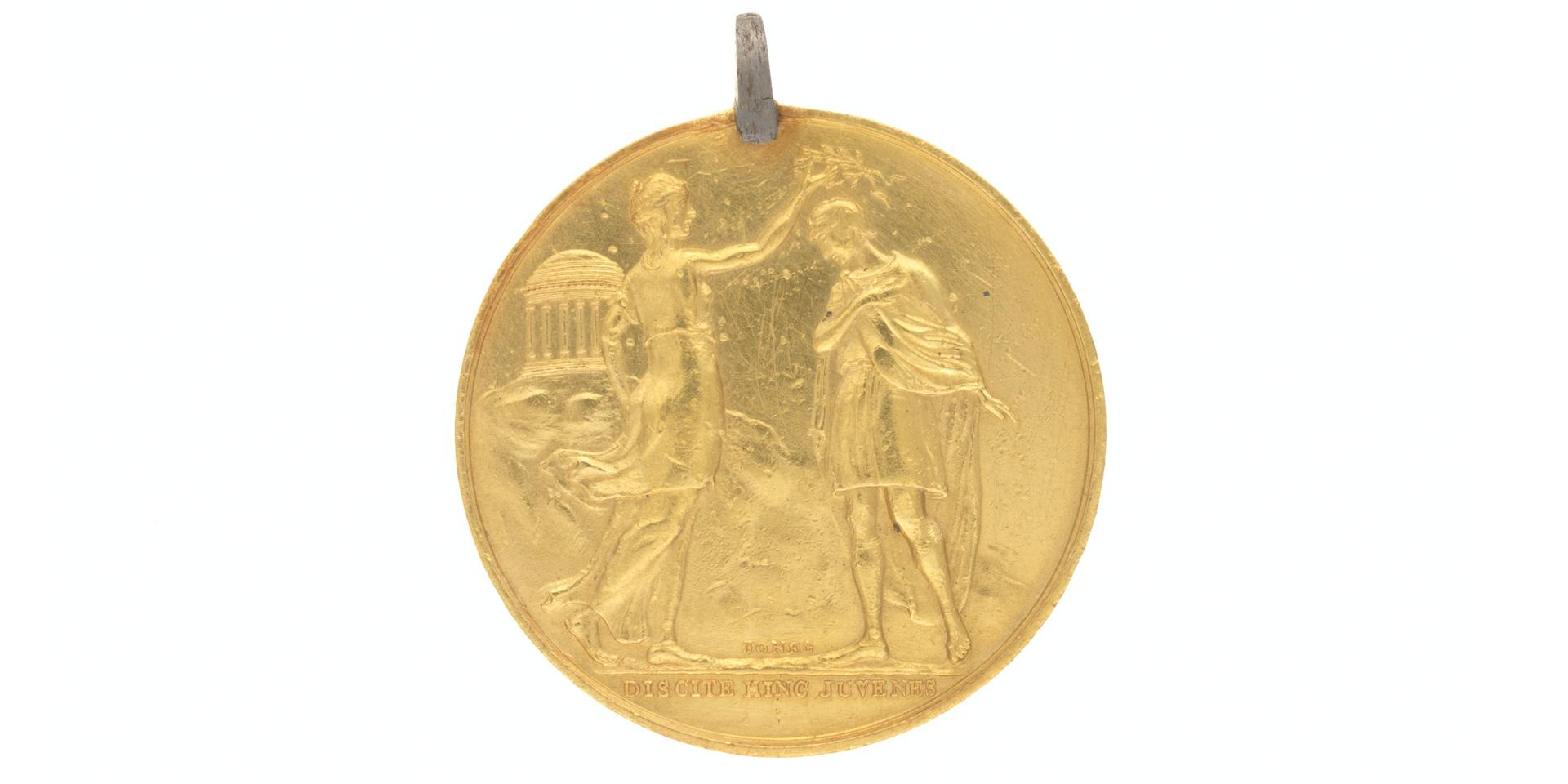 Gold Regimental Medal awarded by the 77th (East Middlesex) Regiment of Foot, c1820
