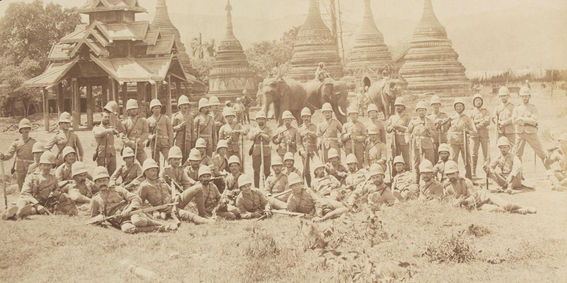 Soldiers of TheDuke of Cornwall's Light Infantry in Upper Burma, 1891