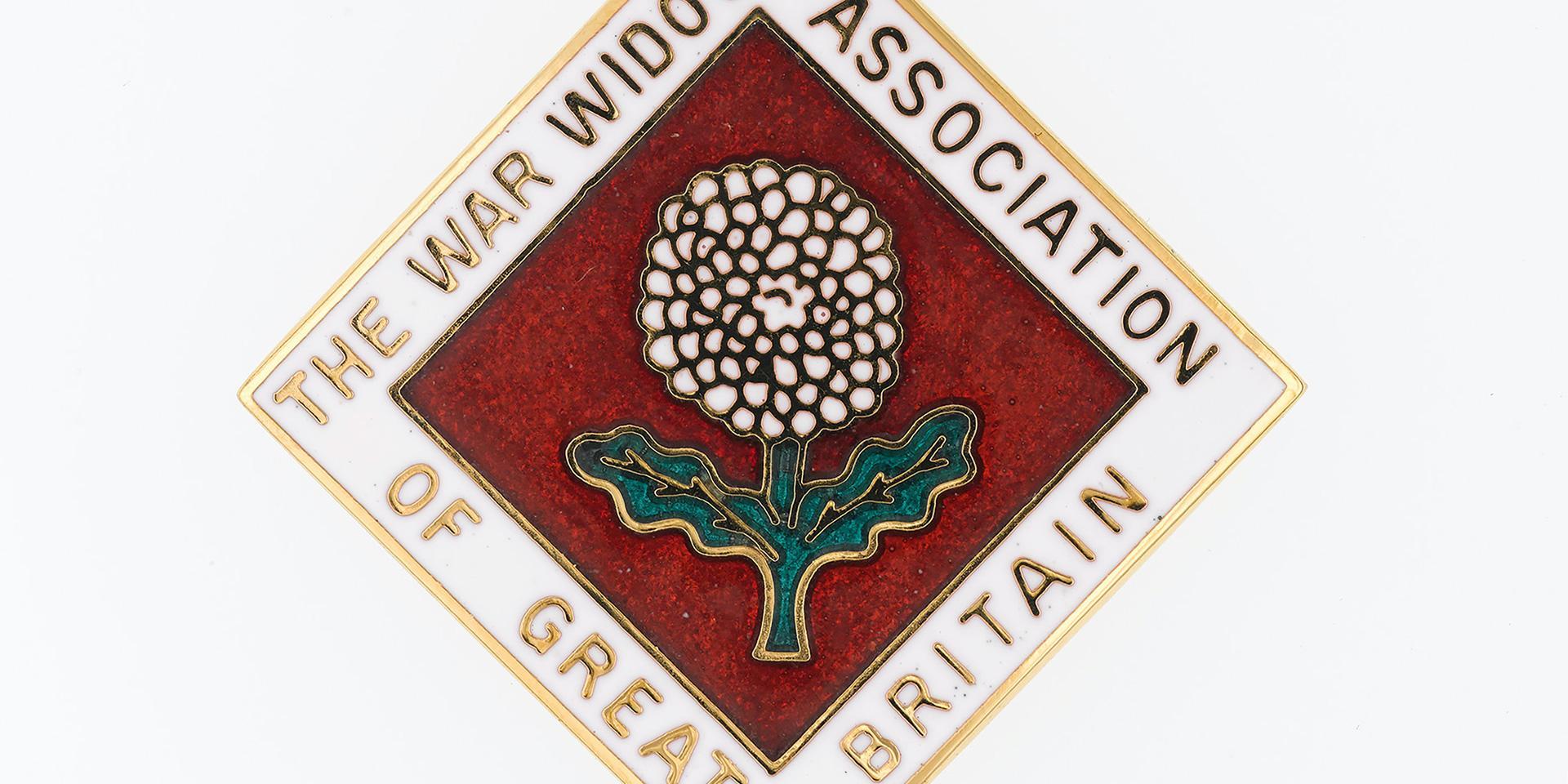 Lapel badge, War Widows Association of Great Britain, 2018