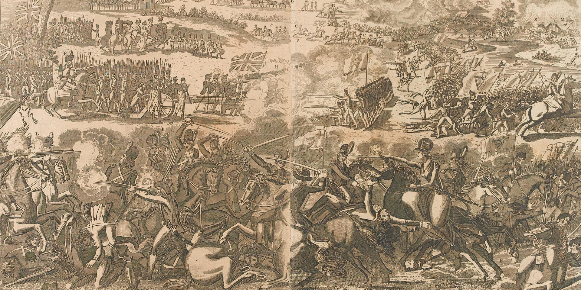 The Battle of Wexford in Ireland fought June 20th 1798