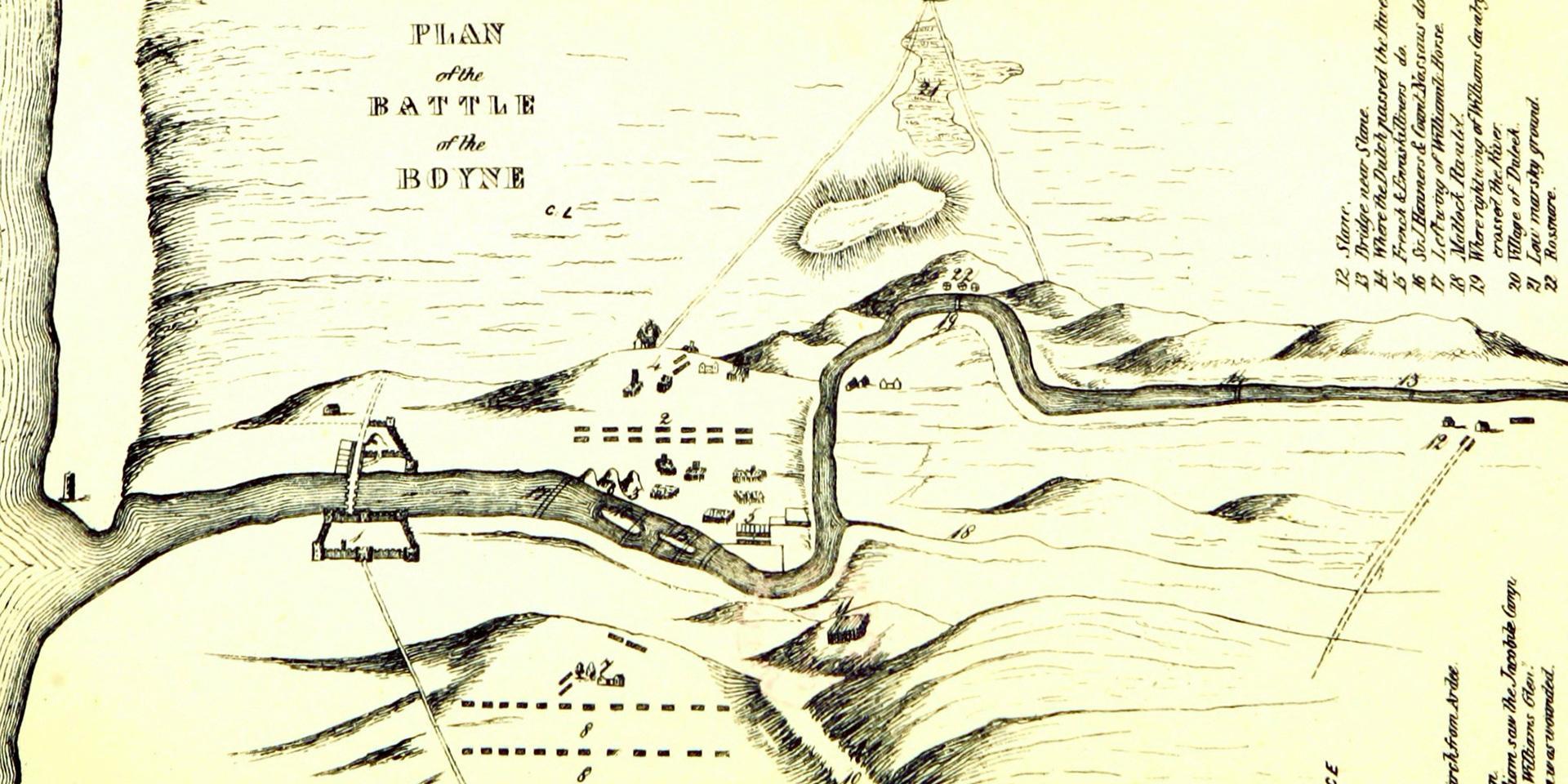 Plan of the Battle of the Boyne