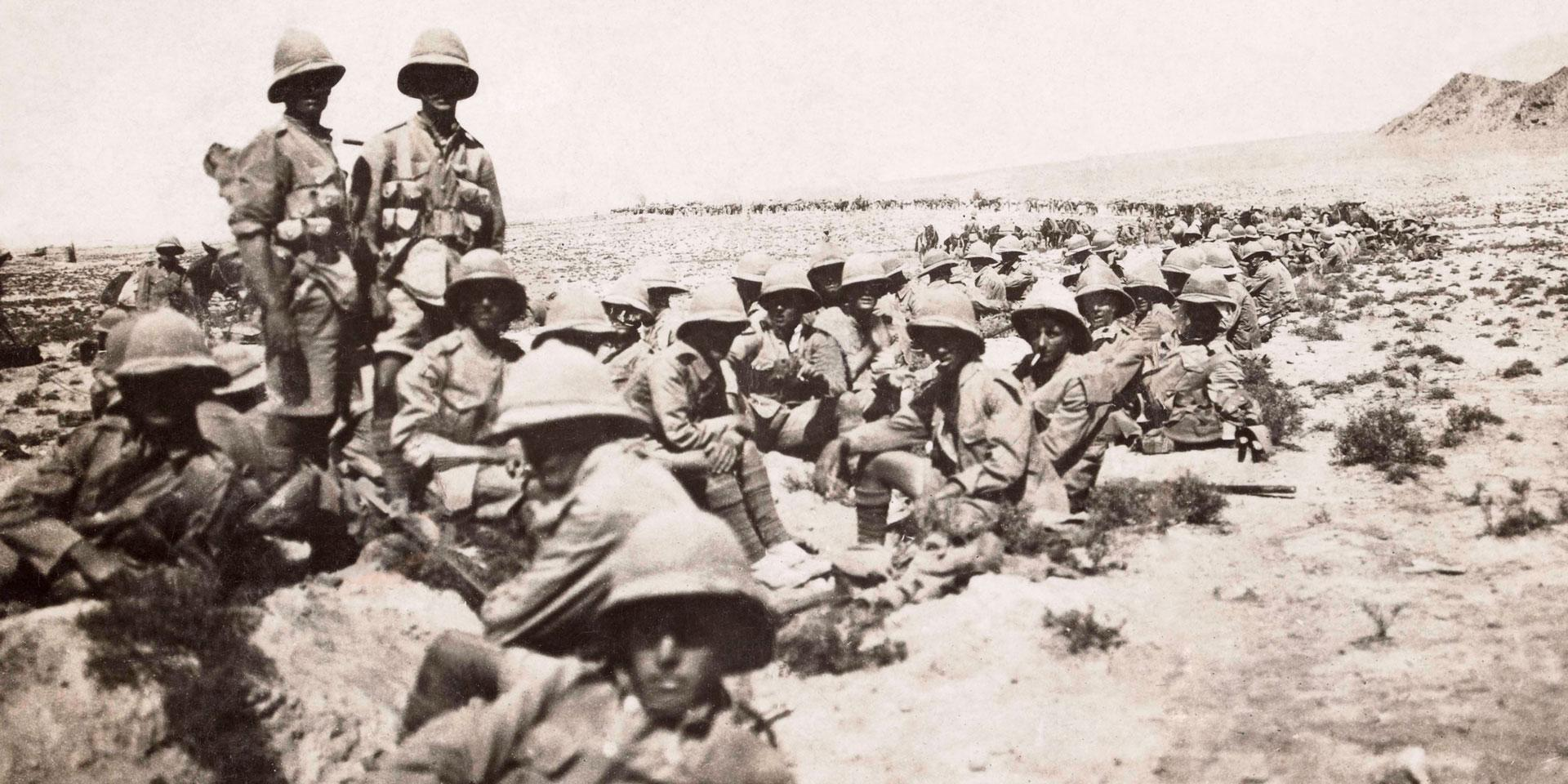 2nd Battalion The Devonshire Regiment on the North-West Frontier of India, c1919
