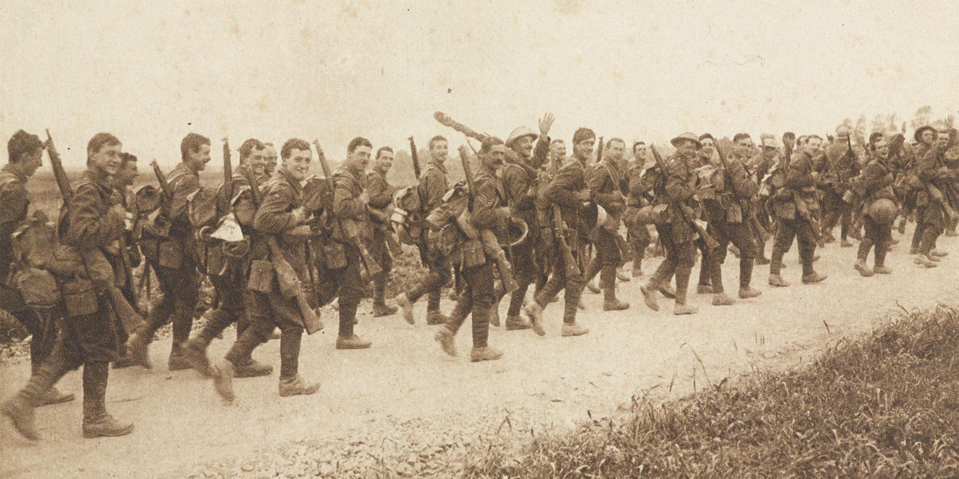 'The East Yorks going into the trenches', 3 July 1916