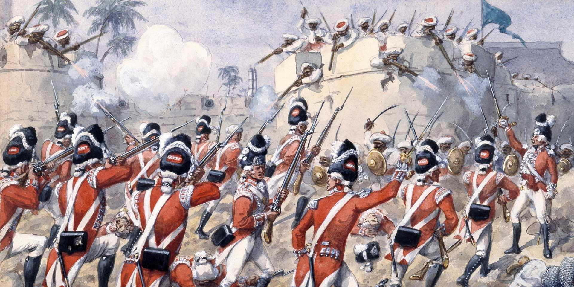 Grenadiers of the 76th Foot at the Battle of Arakere, 15 May 1791
