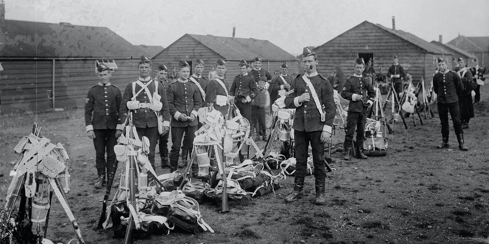 Stafford and Dorset Regiments, c1895
