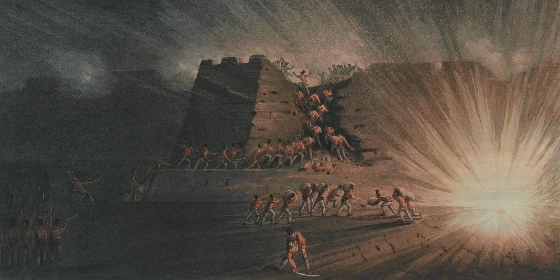 Storming of Ciudad Rodrigo by the Light Division on the night of the 19 January 1812