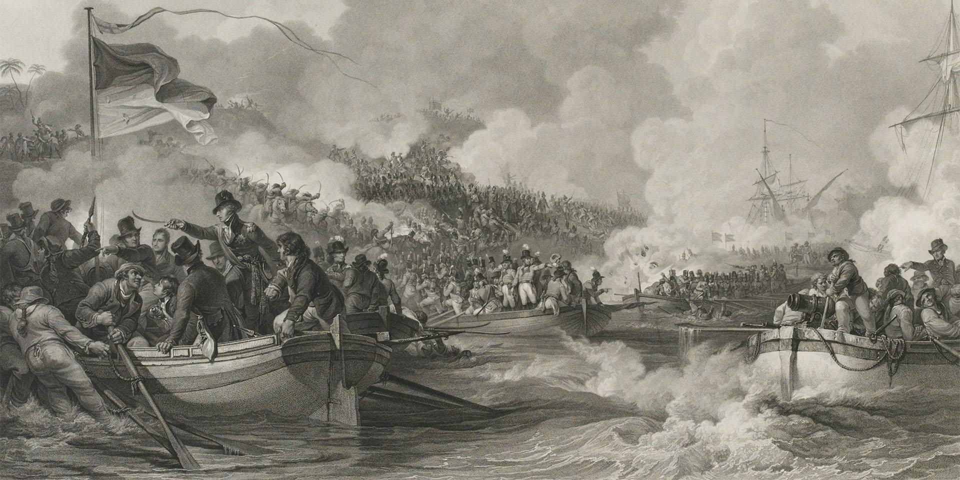 The landing of the British troops in Egypt, 8 March 1801