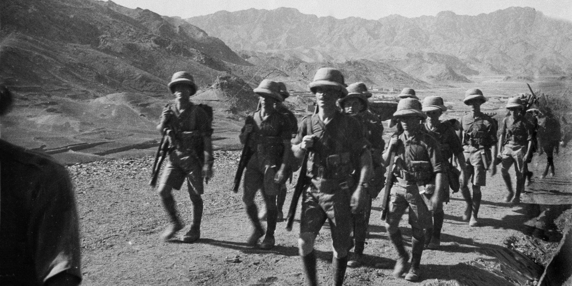 2nd Battalion The Border Regiment on the North-West Frontier of India, c1933
