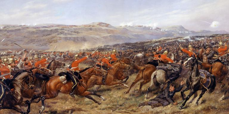 The Charge of the Heavy Brigade by Godfrey Douglas Giles, 1897