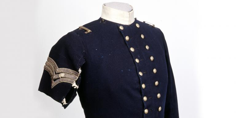 Coatee worn by Sergeant Frederick Peake during the Charge of the Light Brigade, 1854