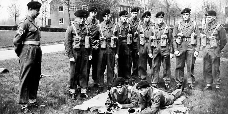Training with the Bren Gun at Moore Barracks in Dortmund, 1959