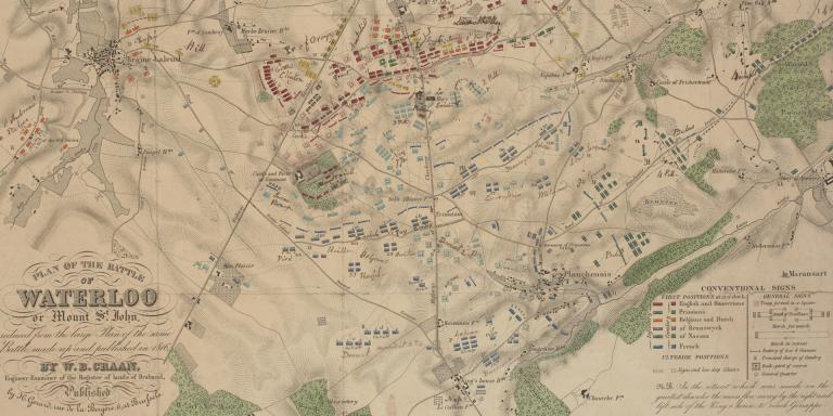 Plan of the Battle of Waterloo, 1816