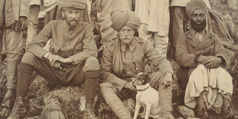 Biddy and Lieutenant Stanley Edwardes of the 2nd (Prince of Wales Own) Bombay Infantry, 1895