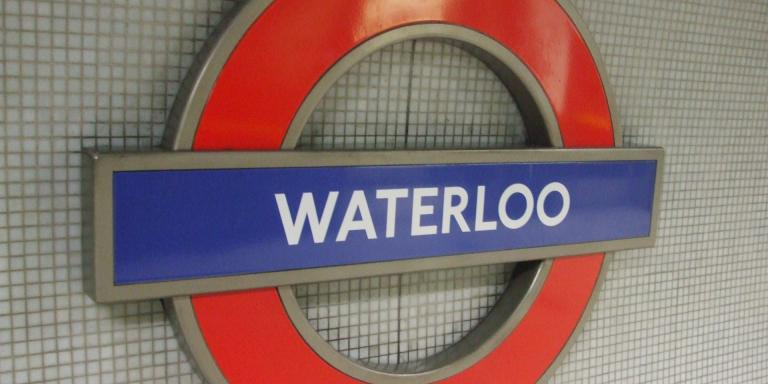 Waterloo underground station, London