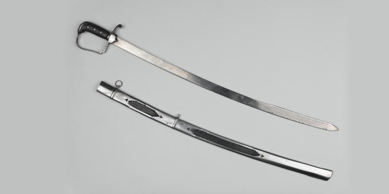 Officer's sword with fish skin grip belonging to Lieutenant Benjamin Buck Hawley, 1809
