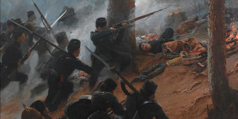 Attack on the Peiwar Kotal, Afghanistan, by 5th Gurkha Rifles, 1878