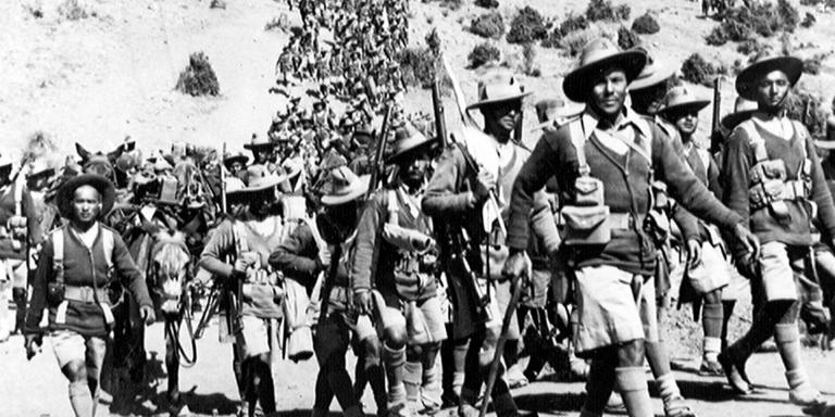 1st Battalion, 3rd Queen Alexandra's Own Gurkha Rifles, returning from road protection duties, Waziristan, 1936