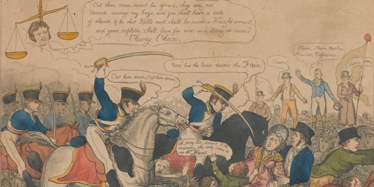 'Manchester Heroes', a caricature of the Peterloo Massacre, 1819