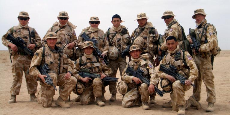 Members of 2nd Battalion The Royal Gurkha Rifles, Helmand, Afghanistan, 2006