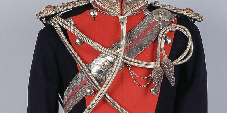 Tunic worn by Major Kenneth O'Brien Harding, 13th Duke of Connaught's Lancers (Watson's Horse), 1915-1921