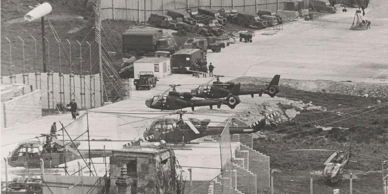 A British Army base in South Armagh, 1977