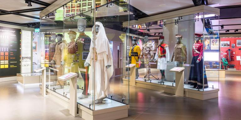 Uniforms on display in Army gallery