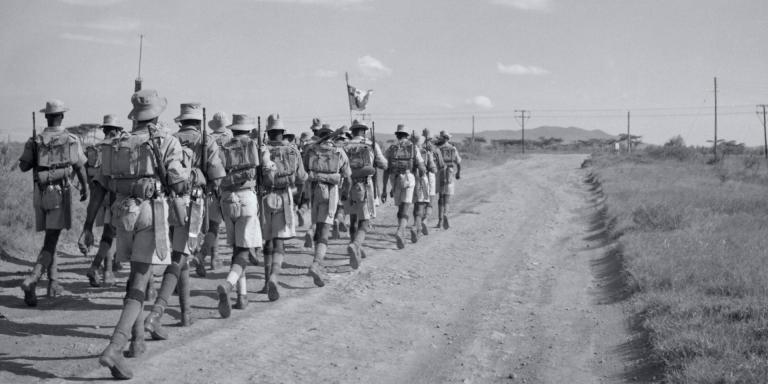 4th King's African Rifles near Gilgil in the Rift Valley, 1956