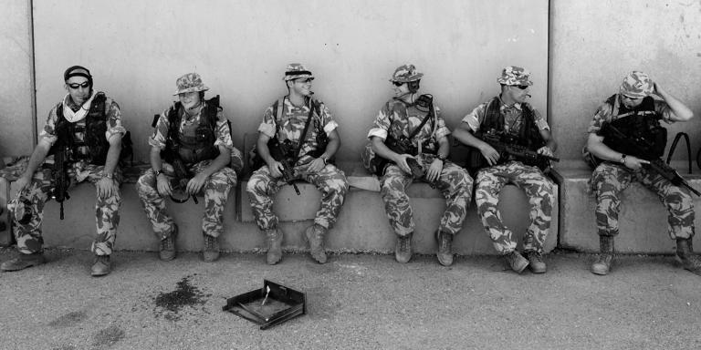Soldiers of 1st Battalion The Cheshire Regiment, Basra, Iraq, 2004