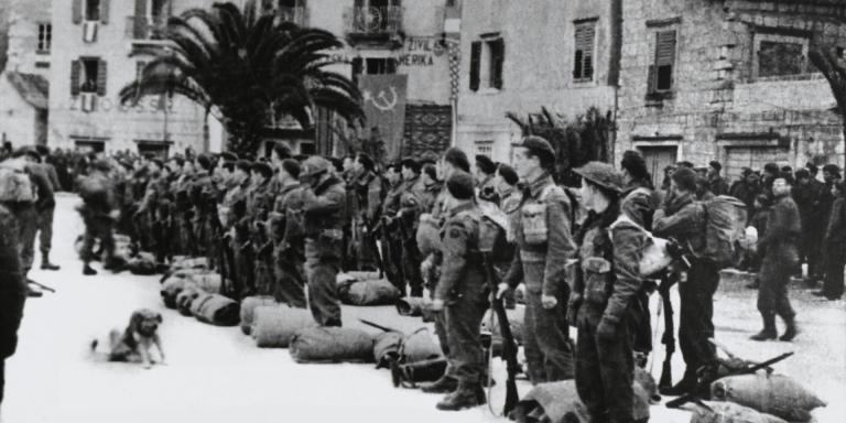 British Commandos at Komiza on the island of Vis, 1944