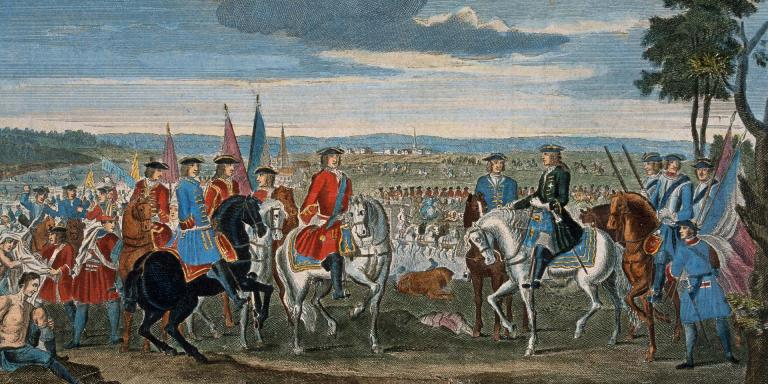 The capture of Marshal Tallard at Blenheim, 1704