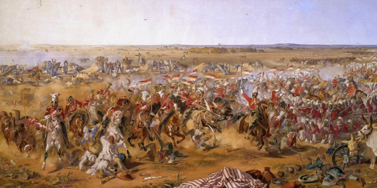 The 16th Lancers at the Battle of Aliwal, 28 January 1846