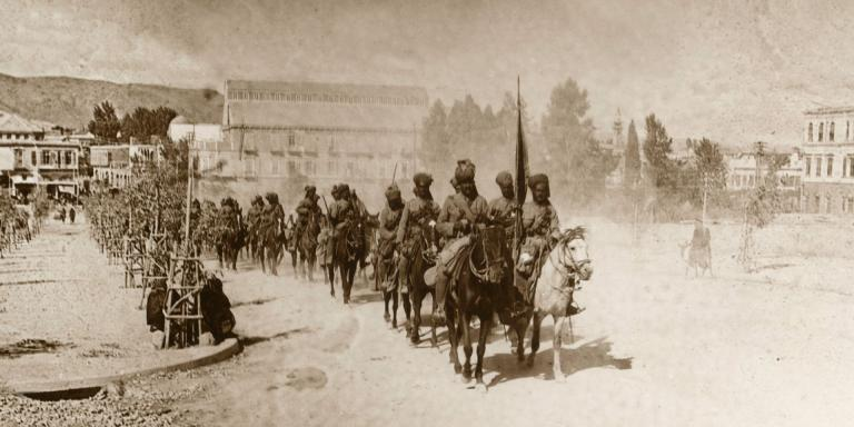 9th Hodson's Horse in General Chauvel's march through Damascus, 2 October 1918