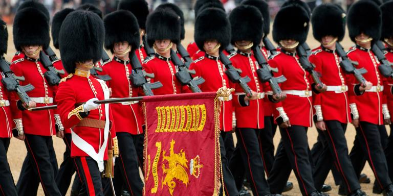 Trooping the Colour on Horse Guards Parade, 2015