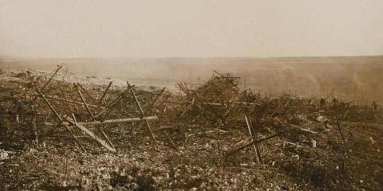 German barbed wire at Beaucourt, November 1916