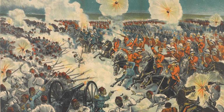 The 'Moonlight Charge' of the Household Cavalry at Kassassin, 1882