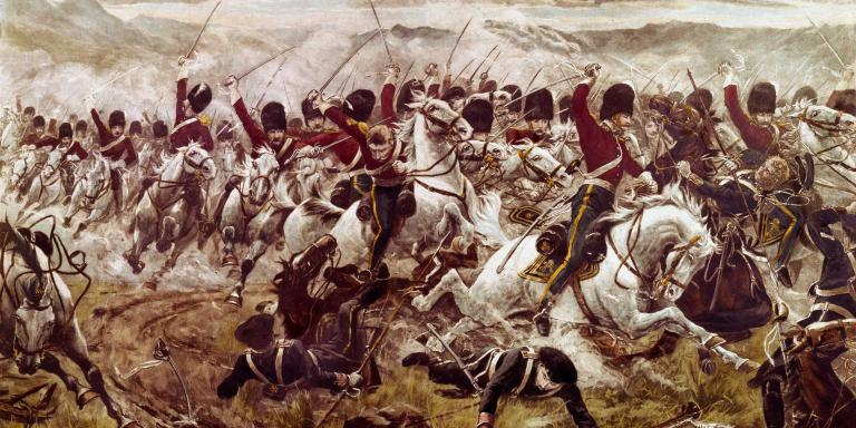 The charge of the Heavy Brigade at Balaclava, 1854