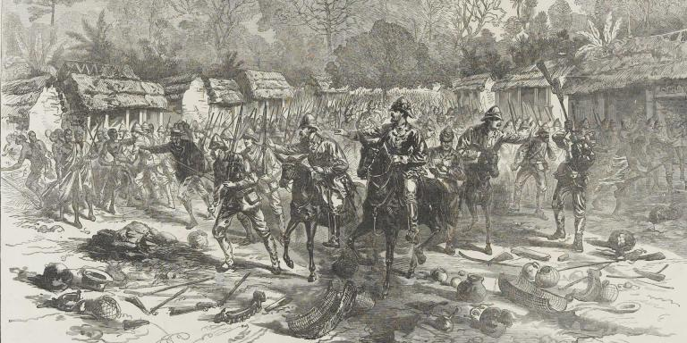 Major-General Sir Garnet Wolseley entering Kumasi, 1874