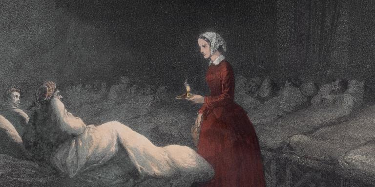 Miss Nightingale In The Hospital In Scutari, 1856