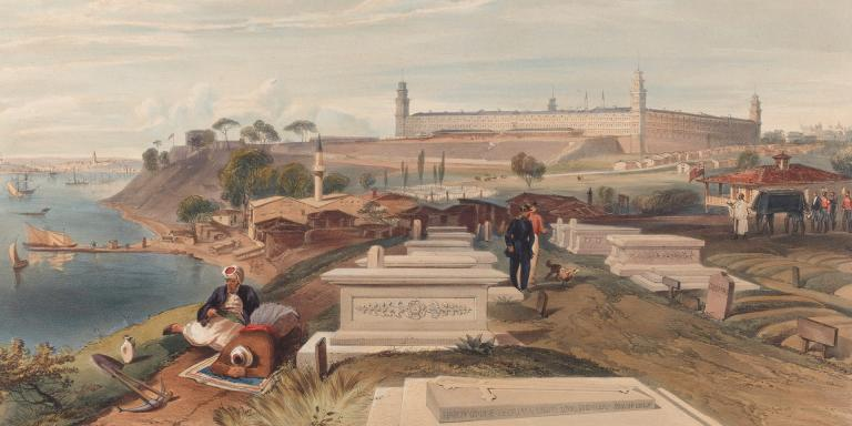 The hospital and cemetery at Scutari, 1856