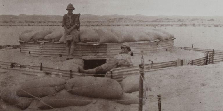 Sand block-house in the South-West African desert, 1915