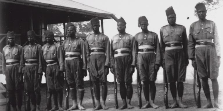 Locally recruited British troops from Cameroon, c1918