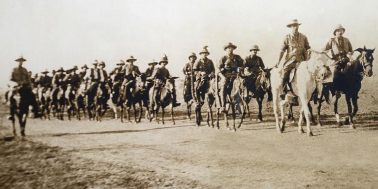 East African Mounted Rifles on patrol, 1915