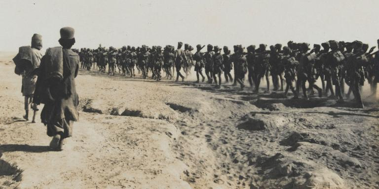 8th Rajputs on the march near Shuster, November 1916
