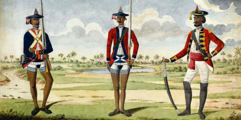 Bengal Army troops, c1785