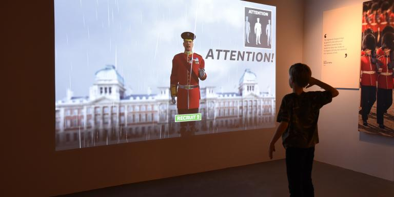 Drill sergeant interactive in Soldier gallery