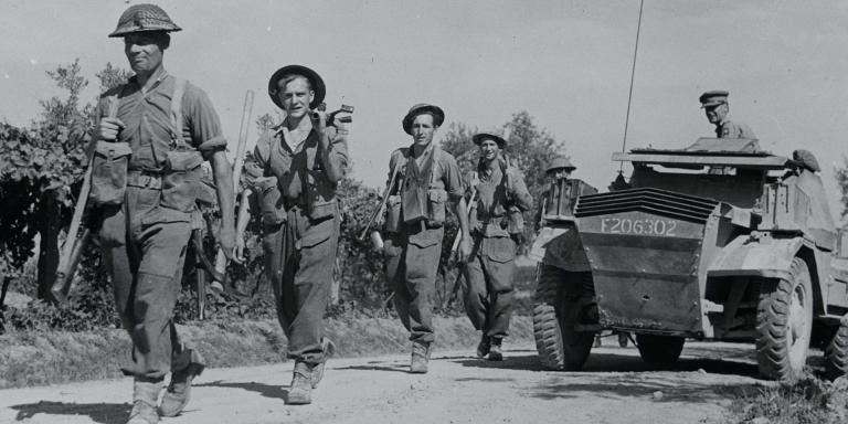 Soldiers of 5th Battalion, The Buffs (Royal East Kent Regiment) in Italy, June 1944