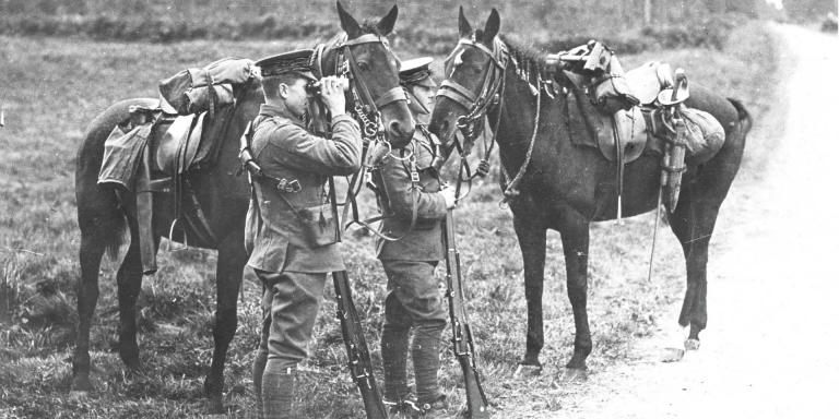 Hussars on the look out, 1914